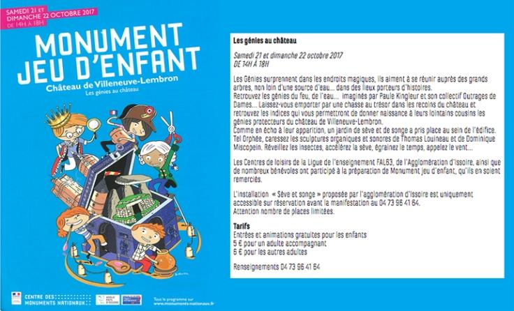 flyer monument jeu d'enfant