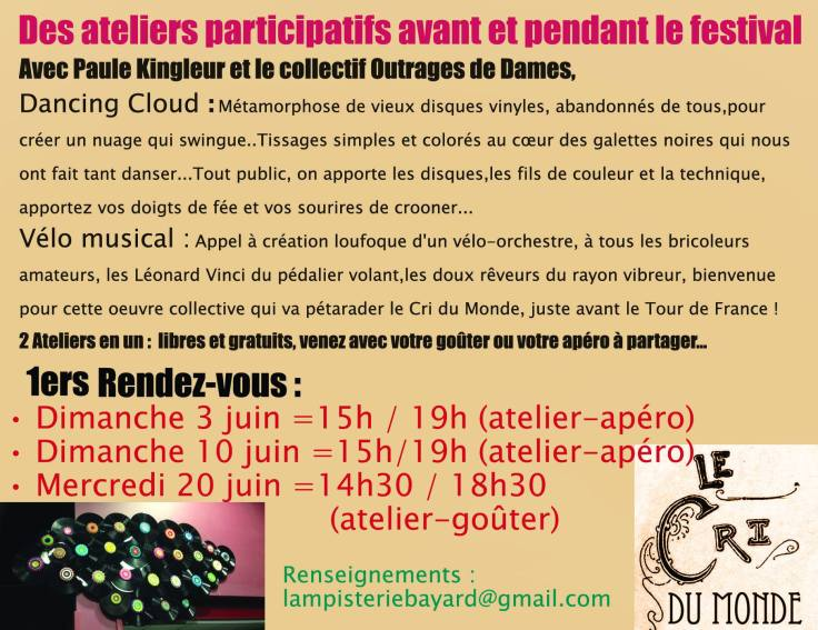 Flyer ateliers Lampisterie
