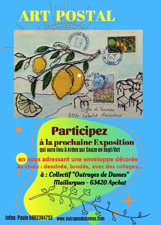 affiche art postal